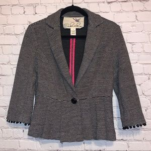 Tabitha Black & White One Button Suit Jacket